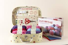 knitting kit buttonbag