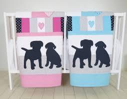 Aqua And Pink Crib Bedding by Puppy Baby Quilt Dog Twin Crib Bedding Labrador Kids Blanket