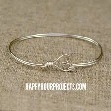 bangle bracelet diy images Diy heart clasp wire wrapped bangle bracelet happy hour projects jpg