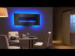 Wall Electric Fireplace Simplifire Linear Wall Mount Electric Fireplace Video Youtube