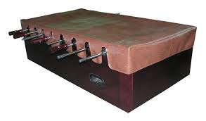 foosball table cover in brown for all foosball tables