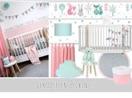 babyzimmer rosa grau dinki balloon babyzimmer mit waldtieren in altrosa mint bei