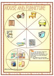 Furniture In The Kitchen by Furniture And Parts Of The House House Pinterest Worksheets