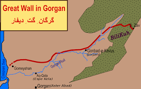 Map Great Wall Of China by Great Wall Of Gorgan Wikipedia
