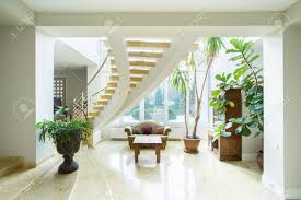 mansion interior design com contemporary luxury mansion interior with spiral stairs stock photo