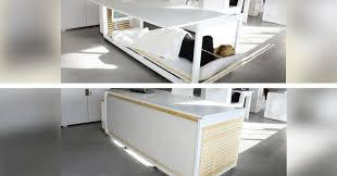 nap desk this desk turns into a bed so you can sleep at work omgfacts