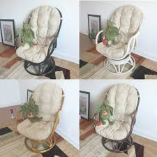 swivel rocking chair erick with cushion handmade eco friendly