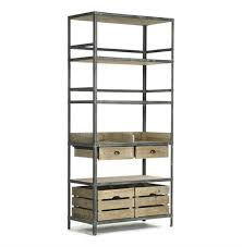 Etagere Wood Bookcase Simple Storage Design With Metal And Wood Bookcase