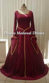 burgundy medieval lotr velvet dress dawns medieval dresses