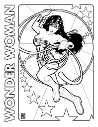 wonder woman coloring pages superhero coloringstar