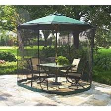 Patio Umbrella With Screen Enclosure Patio Umbrella Mosquito Net 9ft Umbrella Black