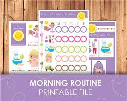 printable evening schedule printable morning routine checklist daily schedule children