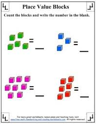 place value blocks base ten worksheets