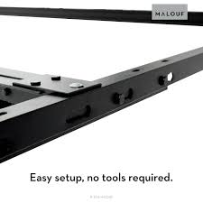 Metal Bed Frame Support Structures Universal Adjustable Metal Bed Frame With Center