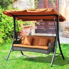 outdoor glider swing with table outdoor glider with canopy s bench and table patio replacement