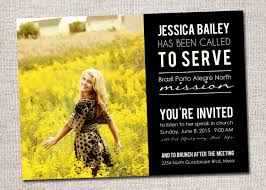 Invitation Card For Farewell Missionary Announcementsmissionary Card Called To Serve
