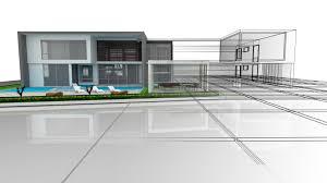 sketchup tutorial presentacion hd infografia minimal modern house