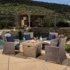 fire pit with seating home loft concepts leon gas 5 piece fire pit seating group with