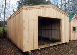 Shed Overhead Door 14x20 Shed Post And Beam Garage Kits Jamaica Cottage Shop