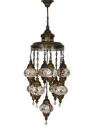 Colored Chandelier Mosaic Chandelier 9 Ls Multi Colored Rugs And Gifts