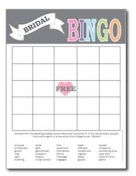 bridal shower gift bingo free printable bridal bingo template bridal shower bingo