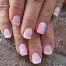 diy easy pink nail art design summer nails with crystals easy