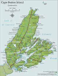Canada On A Map by Sydney Cape Breton Island Canada Cruise Port Of Call
