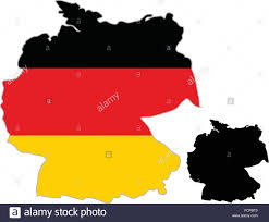 Germany On Map by Germany Map Flag On A White Background Vector Illustrator Stock