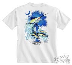 blue marlin fish shirt palmetto marlin design screen