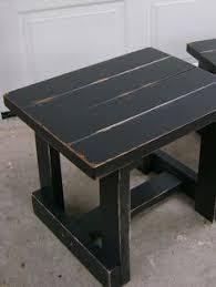 distressed black end table black distressed coffee table diy pinterest coffee round