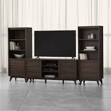room and board zen media cabinet hd media console reviews crate and barrel