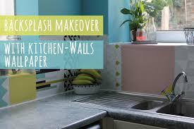 removable kitchen backsplash fascinating backsplash update with wallpaper pict of kitchen and
