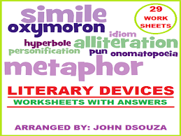 literary devices worksheets with answers by john421969 teaching