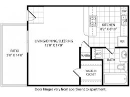 efficiency floor plans studio 1 bath apartment in tx mission place