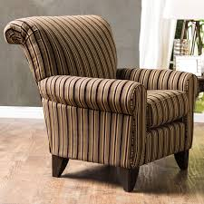 chairs furniture of america wallys traditional brown striped chair