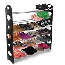 Shoe Shelf Bench by Oxgord 10 Tier Shoe Rack Walmart Com