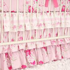 caden lane shabby chic ruffle crib bedding bumper less baby