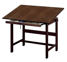 Cheap Drafting Table Save On Discount Alvin Titan Drafting Table With Drawer Walnut