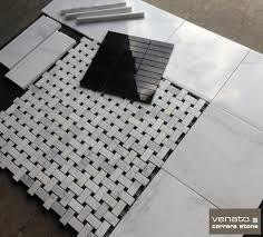 Basketweave Rug Polished Carrara With Basketweave Rug Insert The Builder Depot Blog