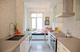 Breakfast Nook Chandelier Engineered Stone Countertops Kitchen Contemporary With Artwork
