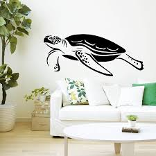 sea turtle murals promotion shop for promotional sea turtle murals hot selling sea turtle swimming pattern wall murals home bathroom special art decor vinyl wall stickers ocean style decal w 669