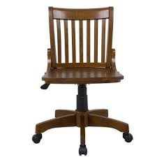 wood desk chair with wheels brown bankers chair wood office chairs home office furniture
