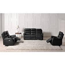 fauteuil et canapé ensemble canapé 3 2 places fauteuil relax électrique cuir
