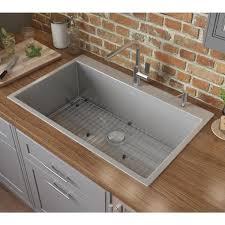 home depot kitchen sink vanity ruvati 28 in drop in tight radius topmount 16
