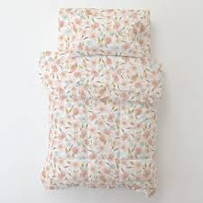 pink hawaiian floral toddler bed comforter carousel designs