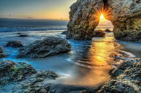 Malibu Landscape Light by Wallpapers Rays Of Light Malibu Sea Rock Nature Sunrises And Sunsets