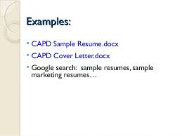 Example Marketing Resume by Jan 15 2015 Developing A Professional Resume
