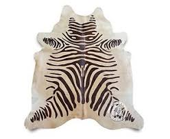 Genuine Zebra Rug Zebra Cowhide Rug Ebay