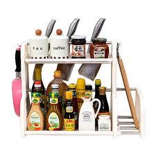 meuble à épices cuisine yontree étagère rangement cuisine porte ustensiles organisateur