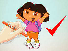 draw dora explorer 11 steps pictures wikihow